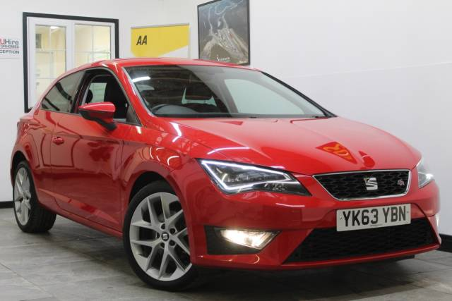 Seat Leon 2.0 TDI FR 3dr [Technology Pack] Hatchback Diesel Red